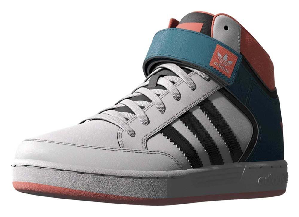 adidas originali varial metà j ftwr bianco / surf solare benzina / rosso