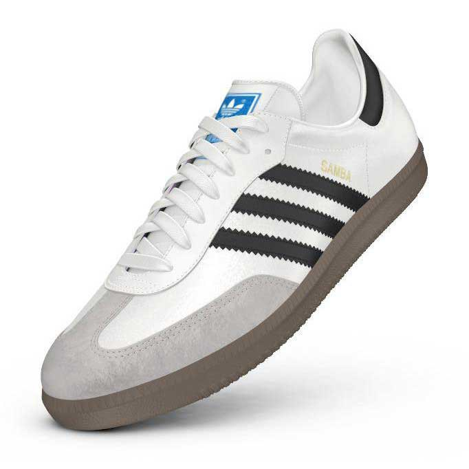 adidas samba bianco / nero / gomma originali 5, dressinn
