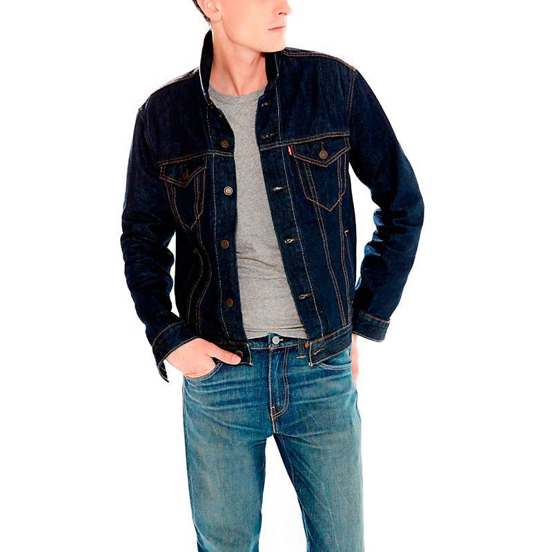 Levi´s The Trucker Azul comprar e ofertas na Dressinn 07146ba4879