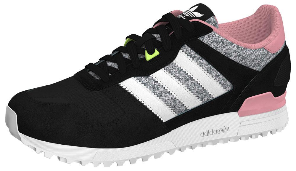 Adidas Originals zx 700 Core Negro / ftwr blanco / Super Pop, dressinn