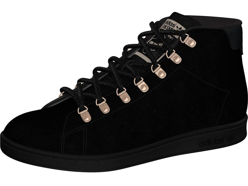 Stan Smith Mid Shoes Black