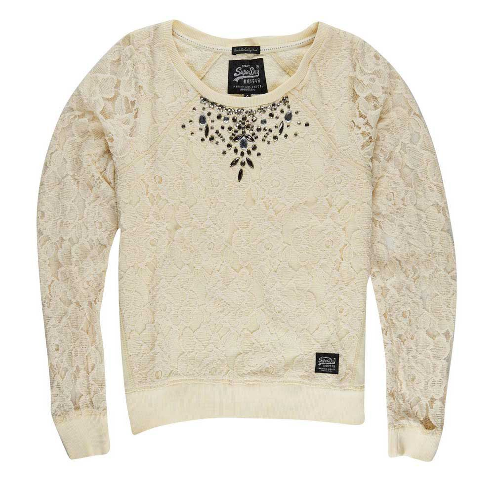 Superdry Lace Panel Shimmer Sweat