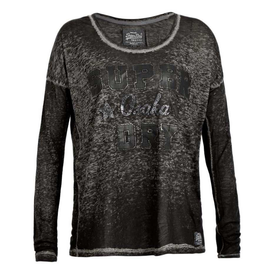 Superdry Blackened Burnout Glitter Top