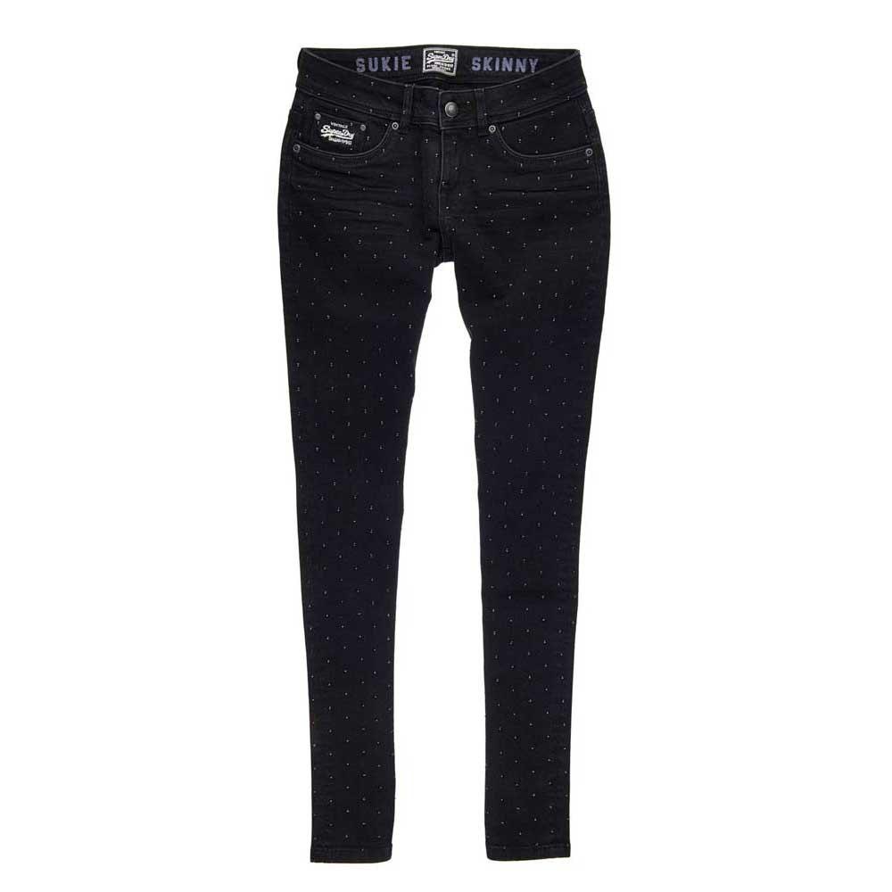 Fashion Superdry Cara Skinny Stud Jeans Womens Black Online Shopping