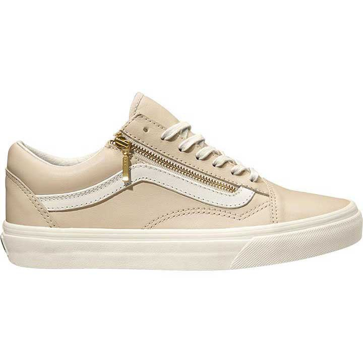 vans old skool beige zip
