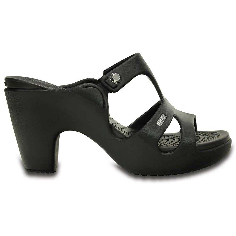 830690b66d14 Crocs Cyprus V Heel Black buy and offers on Dressinn