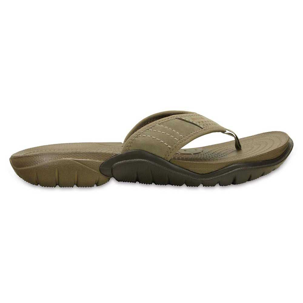 6d446f5edc7afb Crocs Swiftwater Flip Brown buy and offers on Dressinn