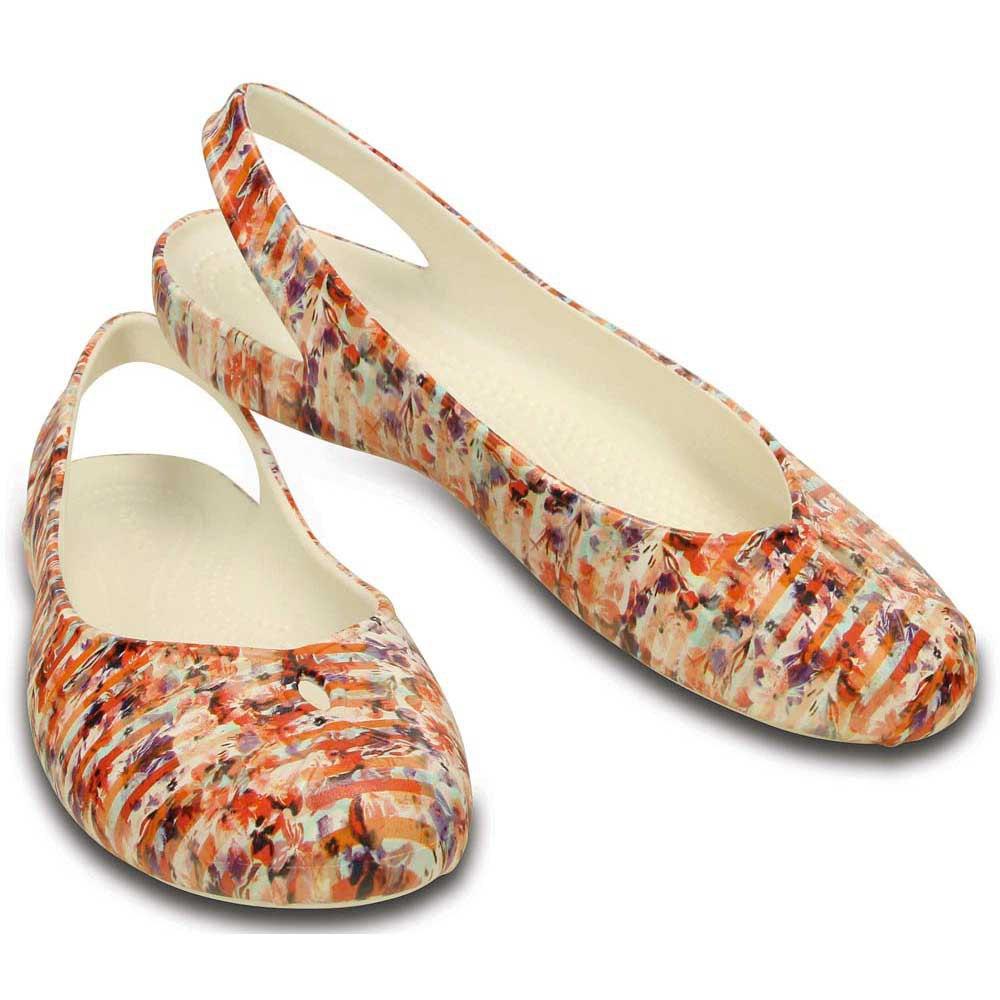 Womens crocs Women's Olivia II Striped Floral Flat Online Size 37