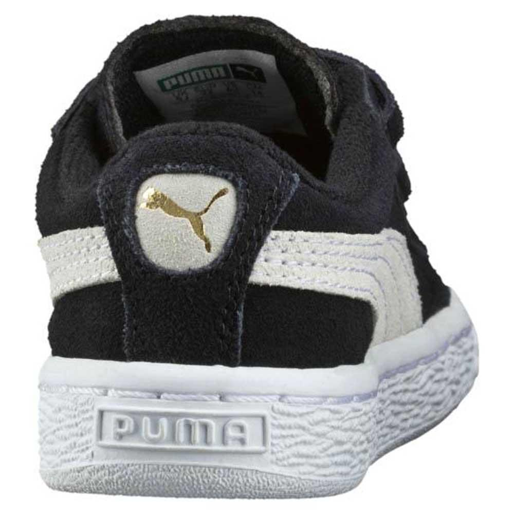 c46e38e8e9a Puma Suede 2 Straps Infant Black   White