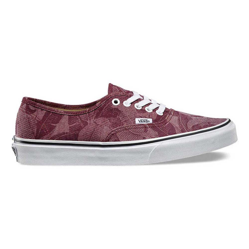 65ef08e51f Vans Authentic Chambray Leaves Windsor Wine
