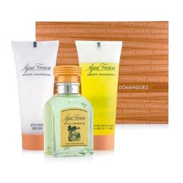 Adolfo dominguez Agua Fresca Eau De Toilette 120 ml After Shave 100 ml Gel 100 ml I