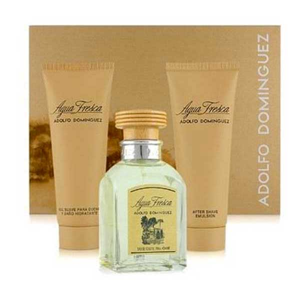Adolfo dominguez Agua Fresca Eau De Toilette 120 ml After Shave 100 ml Gel 100 ml