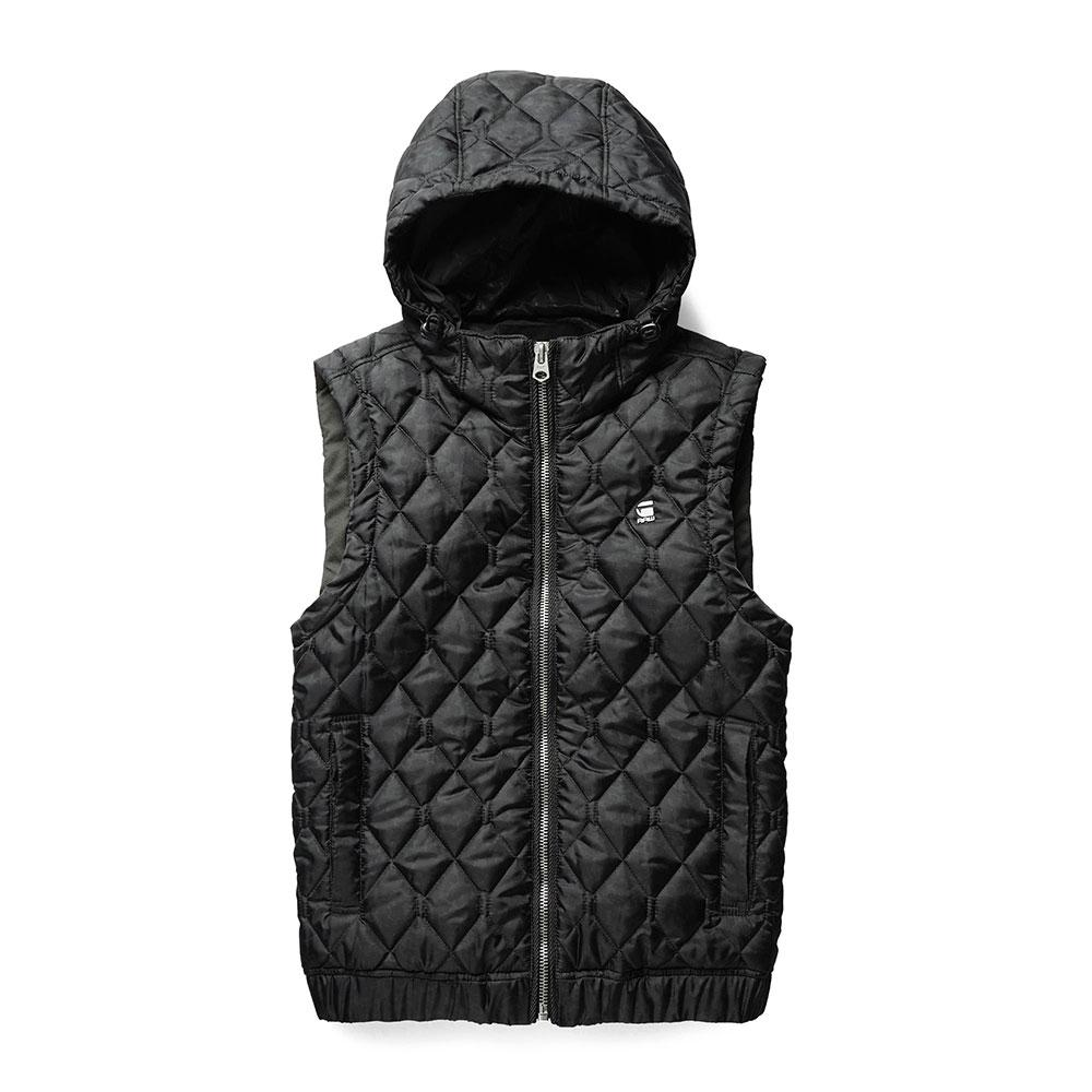 g star meefic quilted hooded vest buy and offers on dressinn. Black Bedroom Furniture Sets. Home Design Ideas