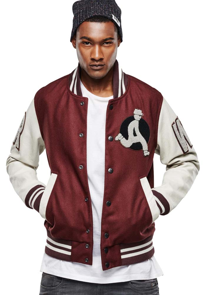 794855588ae Gstar Baseball Wool Leather Bomber comprar y ofertas en Dressinn