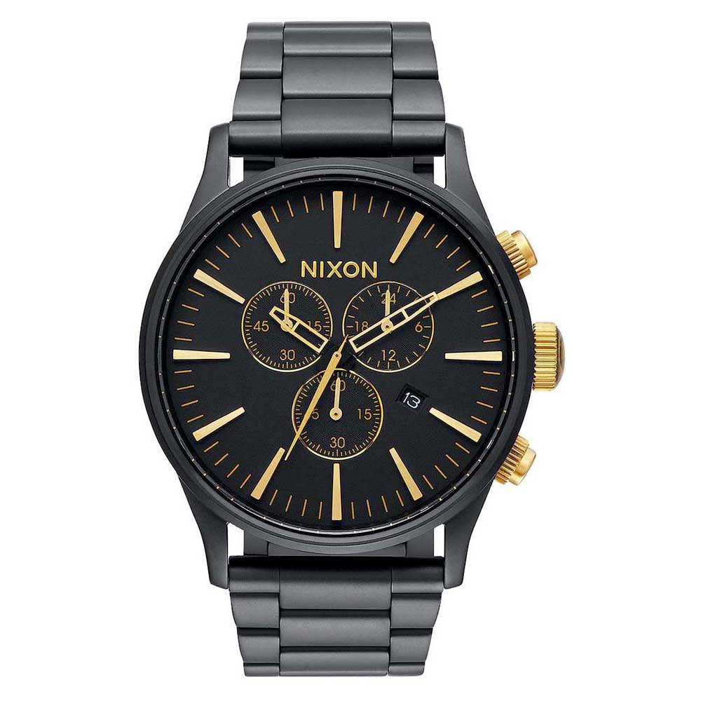 Relógios Nixon Sentry Chrono One Size Matte Black / Gold