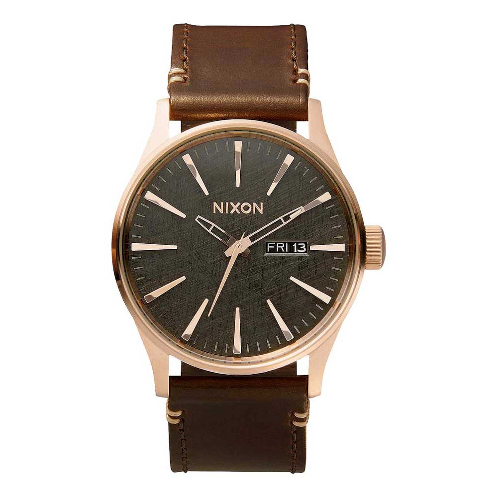 Relógios Nixon Sentry Leather One Size Rose Gold / Gunmetal / Brown