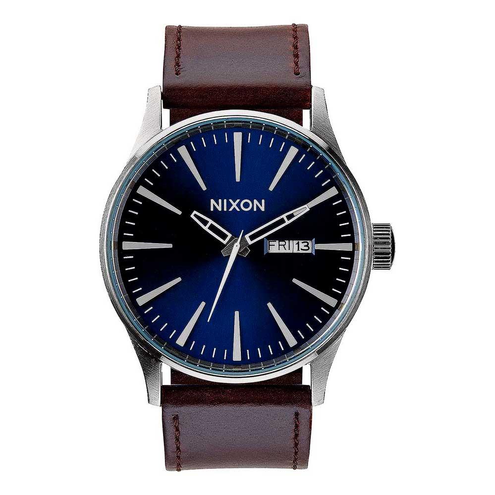 Relógios Nixon Sentry Leather One Size Blue / Brown