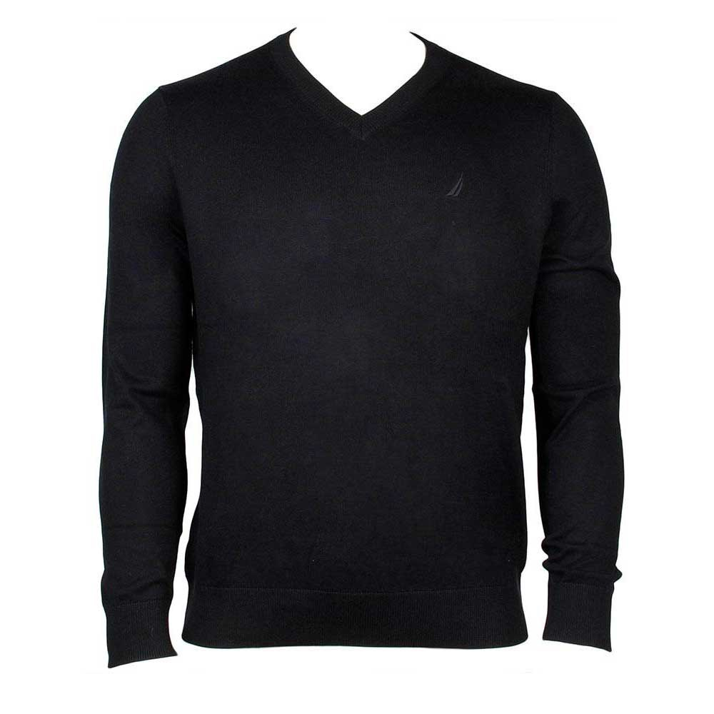 Nautica Solid VNeck Sweater