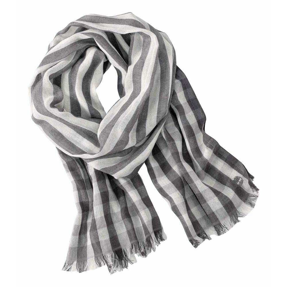 Timberland A16Yl Striped Scarf With Gingham Tips