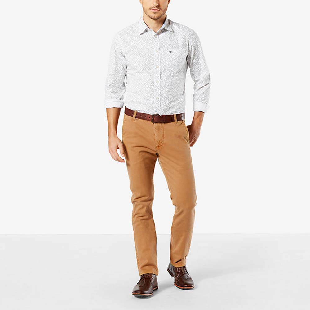 Dockers Alpha Washed Khaki Slim Tapered L32