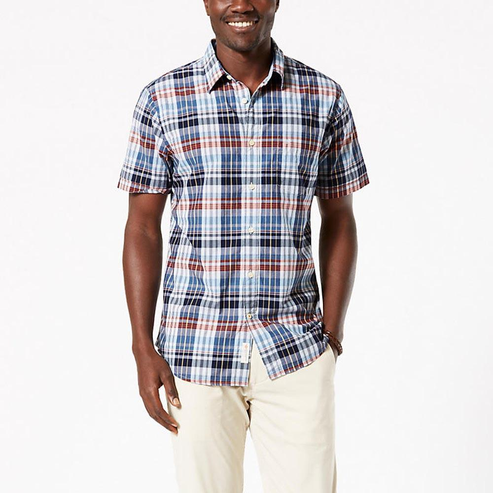 Dockers Laundered Poplin Shirt Standard Fit Ss