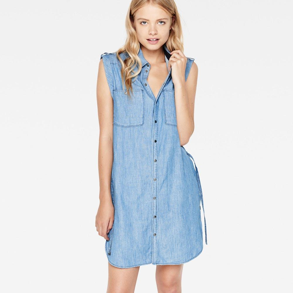 G-star Remi Boyfriend Sleeveless Shirt Dress