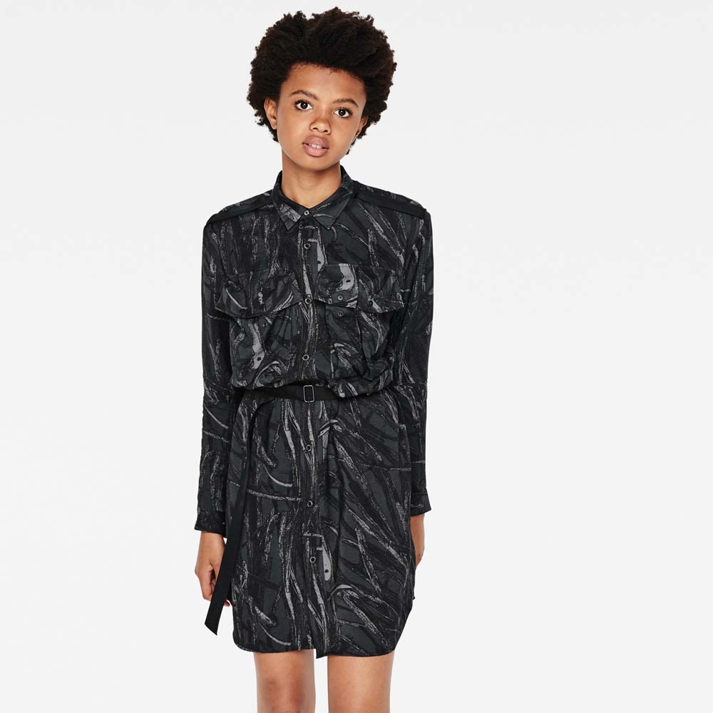 Gstar Aeronotic Pattern Shirt Dress