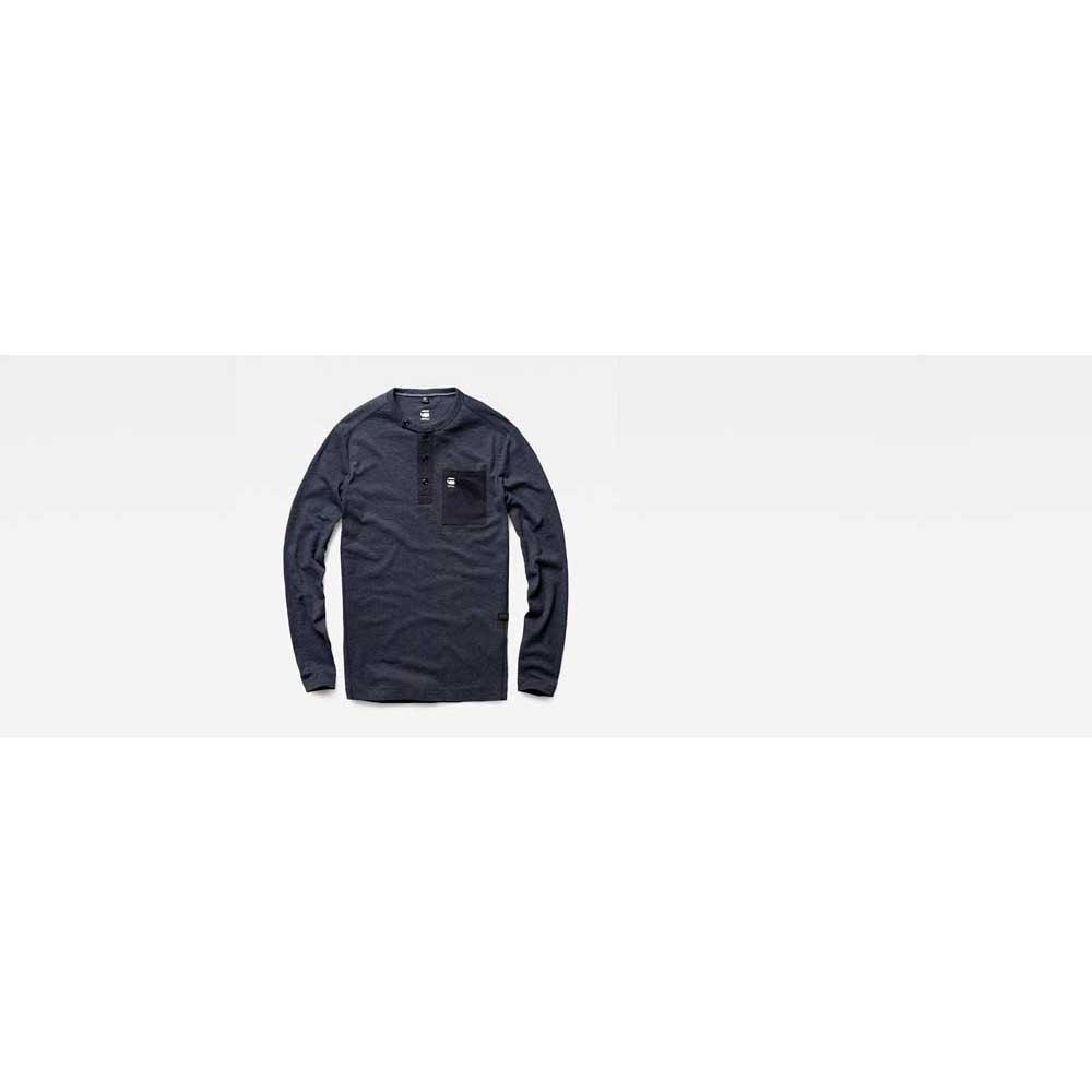 8ad48088a9 ... Gstar Mazuren Slim Grandad T Shirt L S