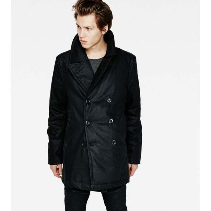 Gstar Correct Denim Pea Coat
