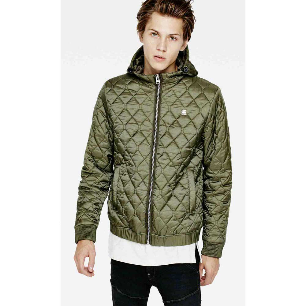 Gstar Meefic Quilted Hooded Overshirt