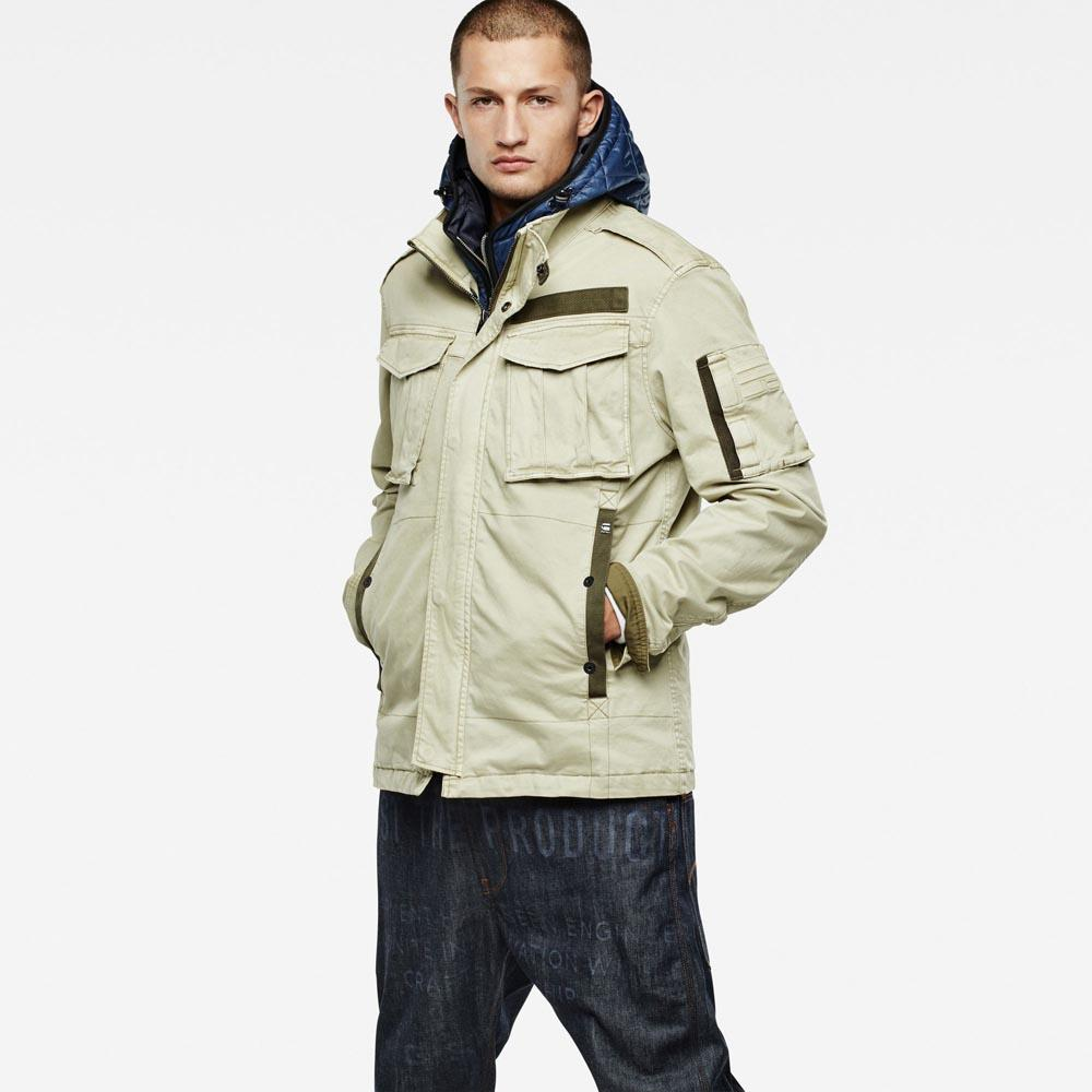 Gstar Rovic Hooded Liner Overshirt
