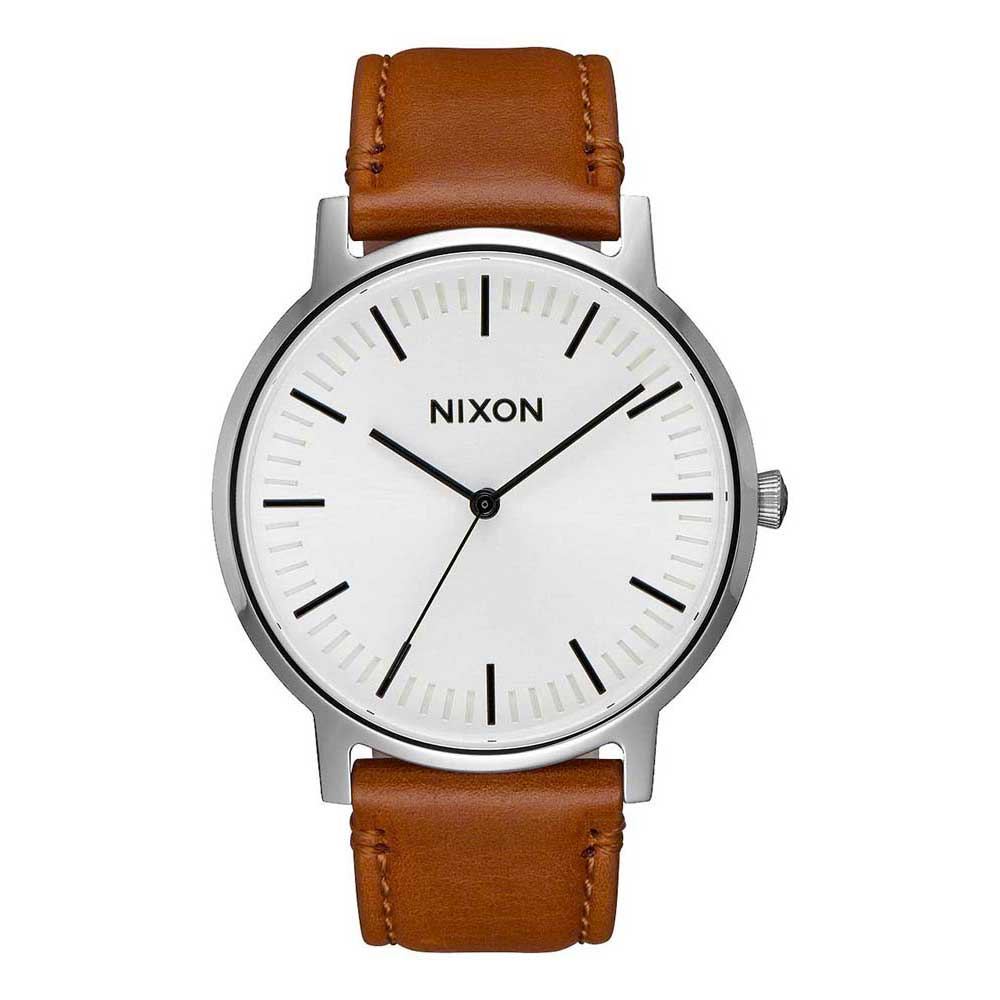 Relógios Nixon Porter Leather One Size White Sunray / Saddle
