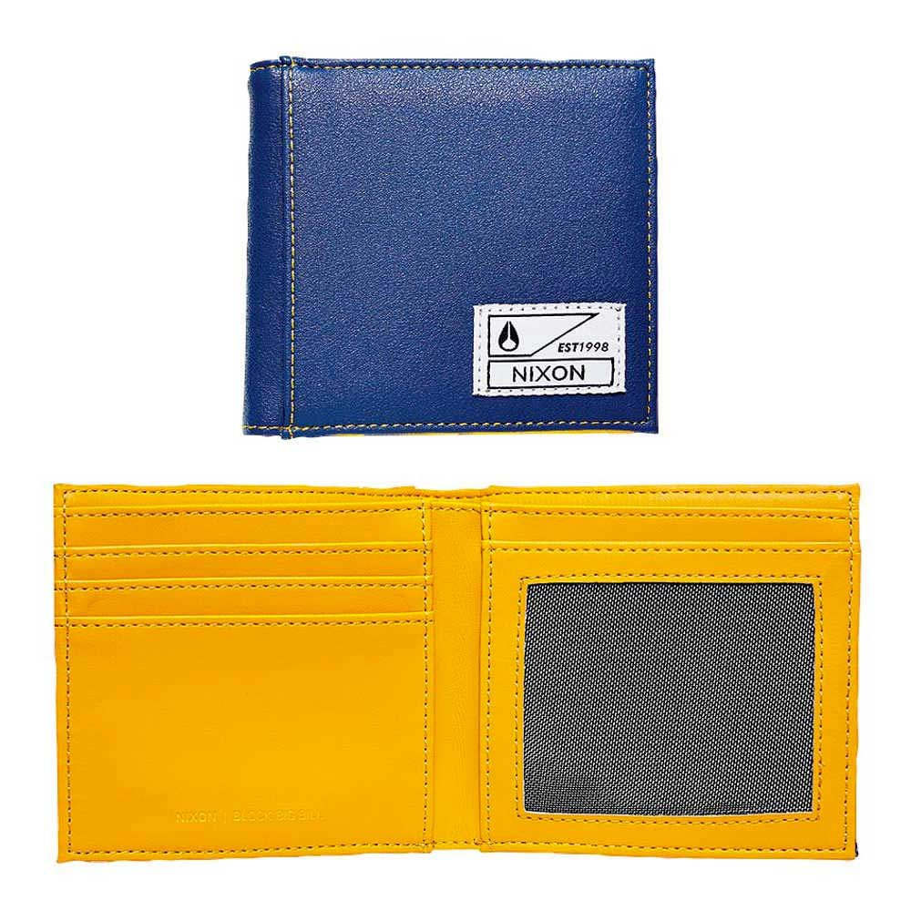 Nixon Block Big Bill Bi Fold Zip Coin Wallet