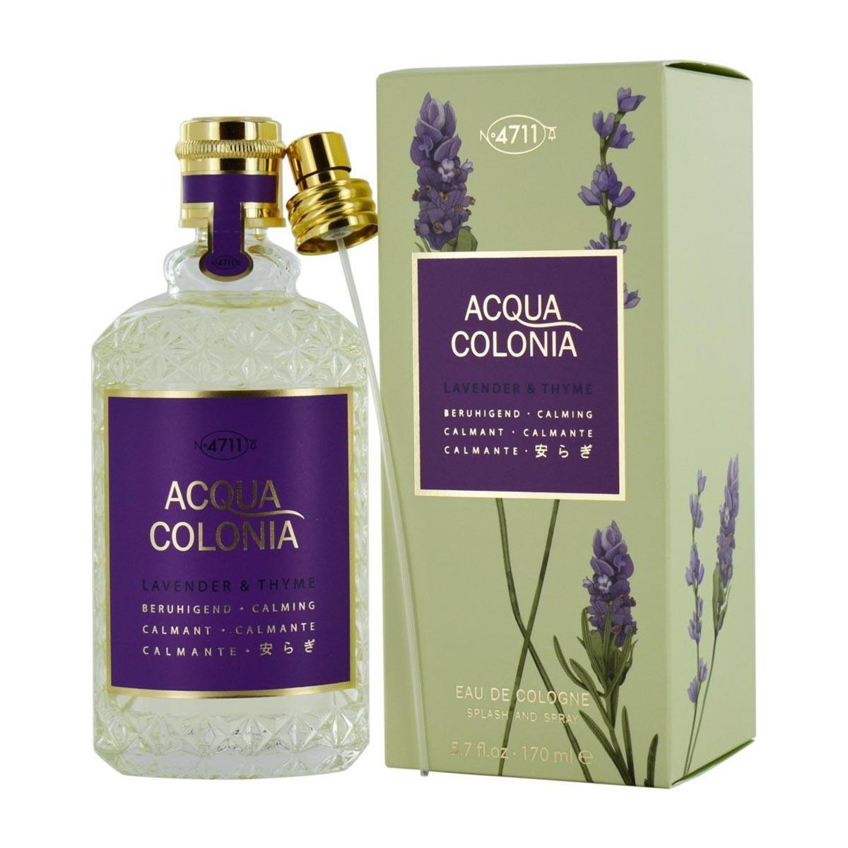 4711 Acqua Colonia Lavender Thyme Splash Spray Eau De Cologne 170 ml