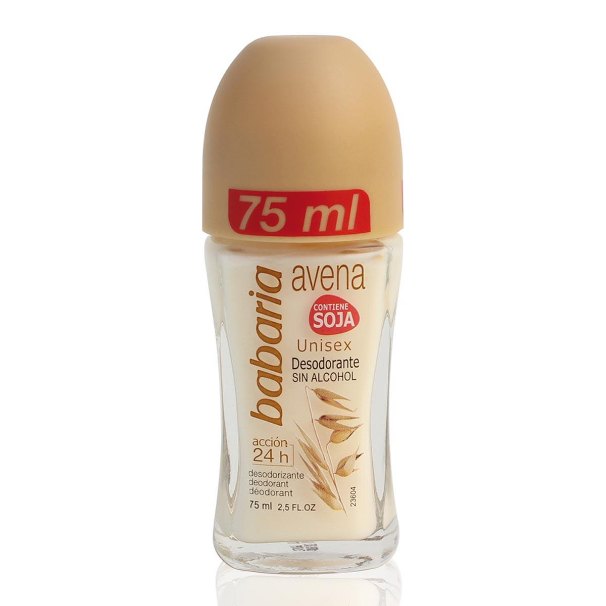 Babaria Oats Deodorant Rollon Contains Soybean Without Alcohol 75 ml