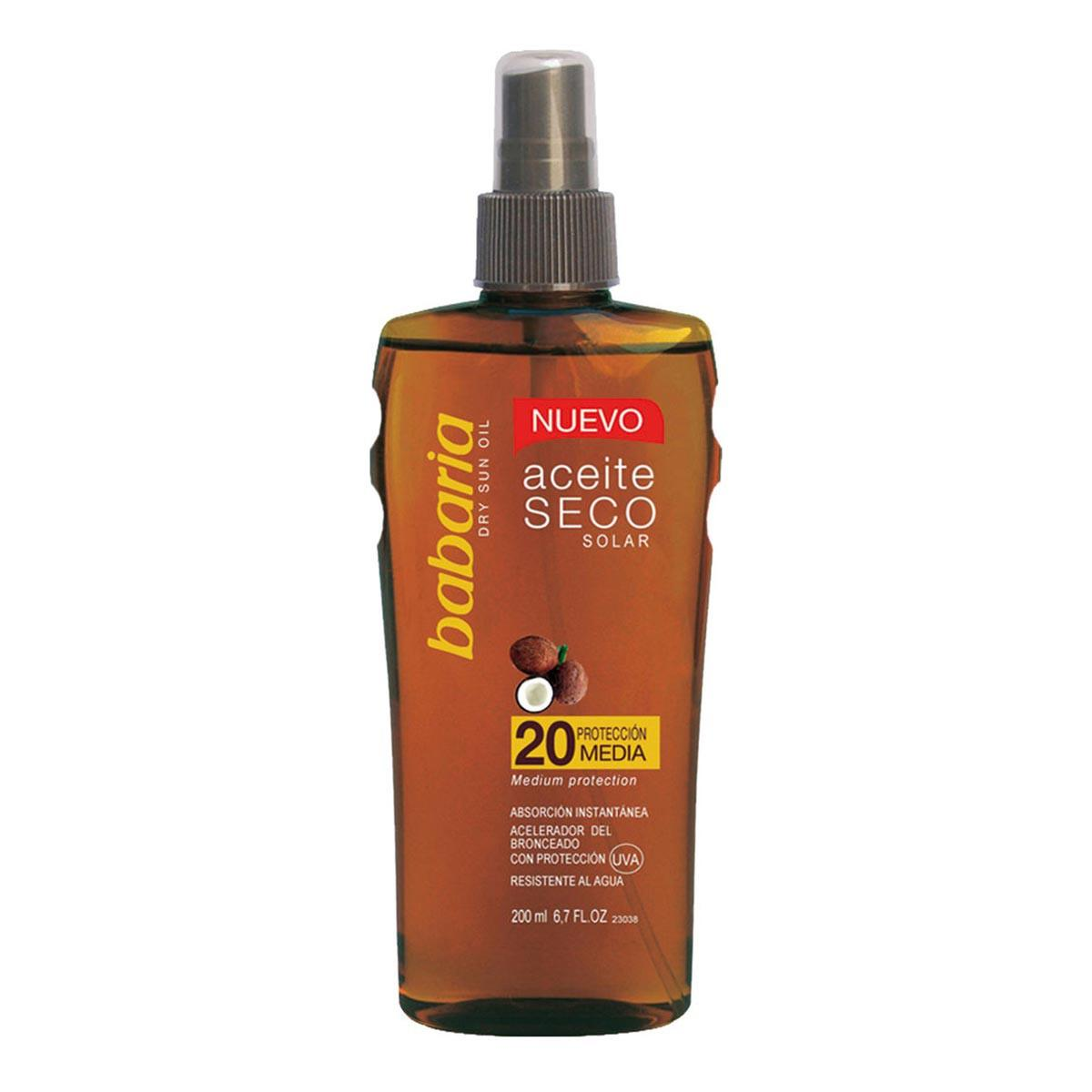 Babaria fragrances Solar Dry Oil Spf20 Medium Protection 200ml