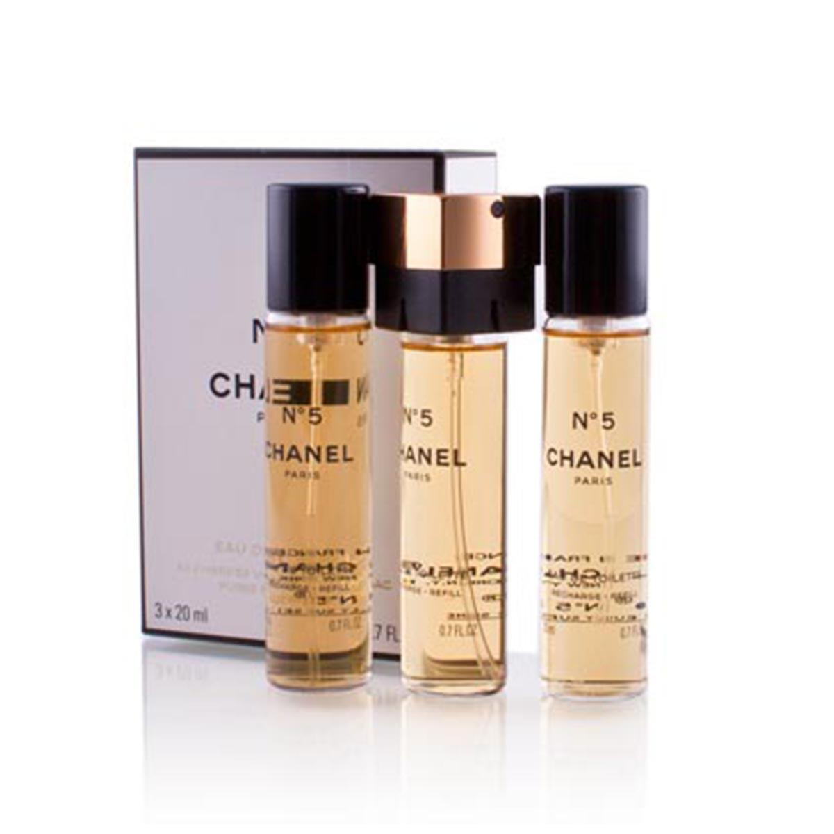 Chanel N5 Eau De Toilette 3X20 ml Recharges
