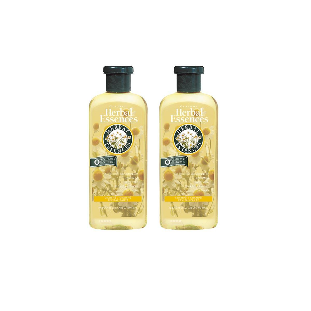 Consumo Clairol Herbal Essences Camomila And Aloe Vera Shampoo 400 ml Pack Duplo