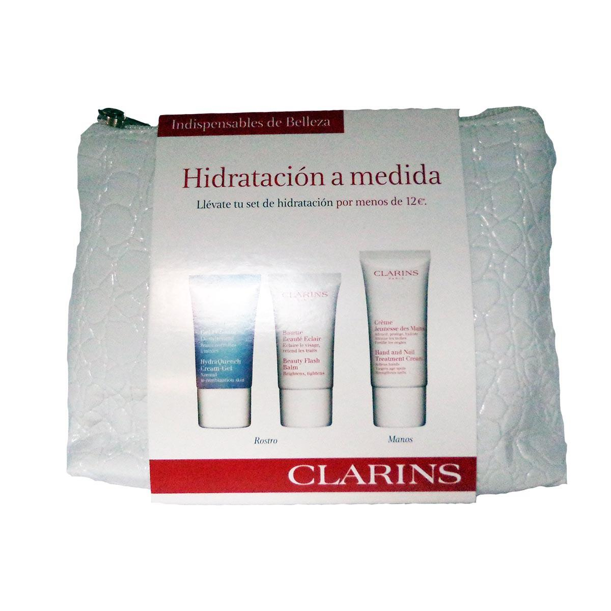 Clarins fragrances Custon Hydration Gel Fondant Desalterant 15ml Baume Beaute Eclair 15ml Creme Jeunesse Des Mains 30ml