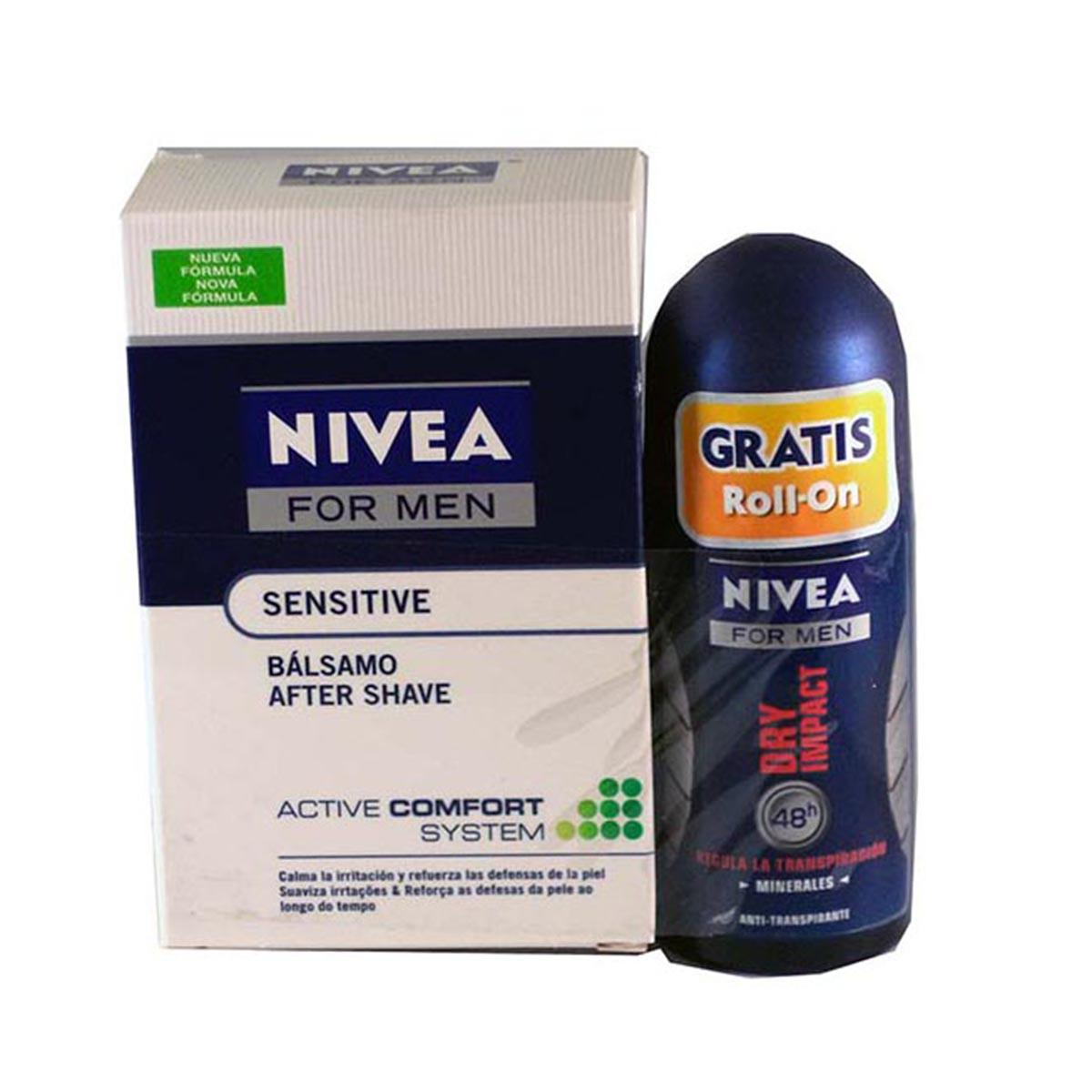 Nivea fragrances After Shave Balm 100ml Deodorant Rollon Dry Impact 50ml
