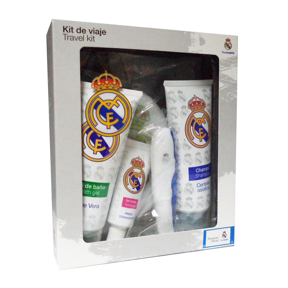 Consumo Real Madrid Shower Gel With Aloe Vera 100 ml Shampoo With Centella Asiatica 100 ml Gel Dental 25 ml Toothbrush Esponge