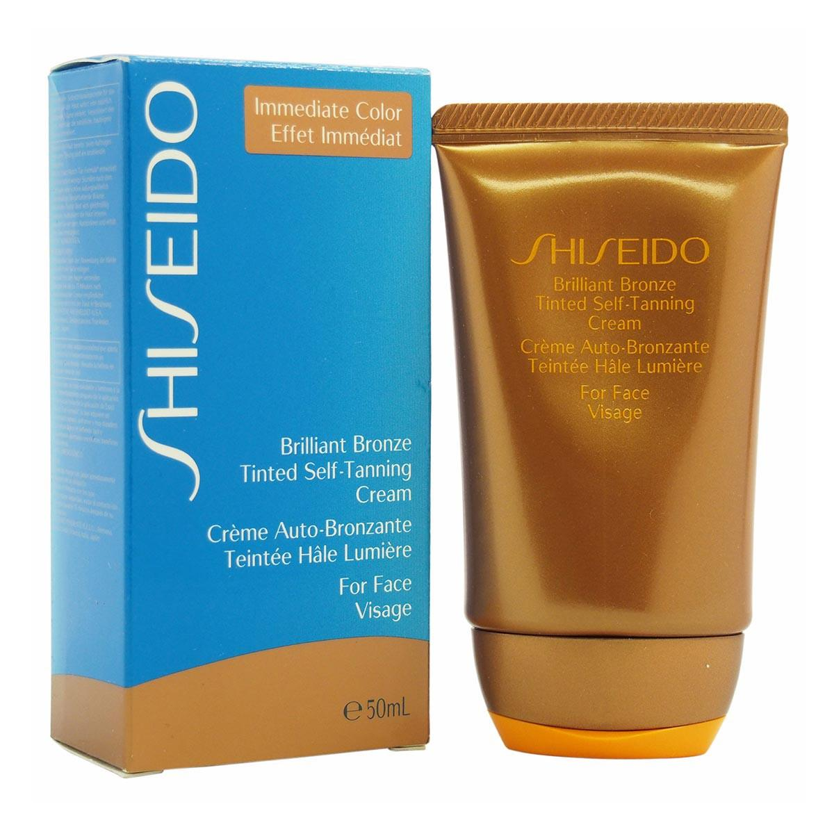 Shiseido Inmediate Color Brilliant Bronze Tinted Self Tanning Cream For Face 50 ml