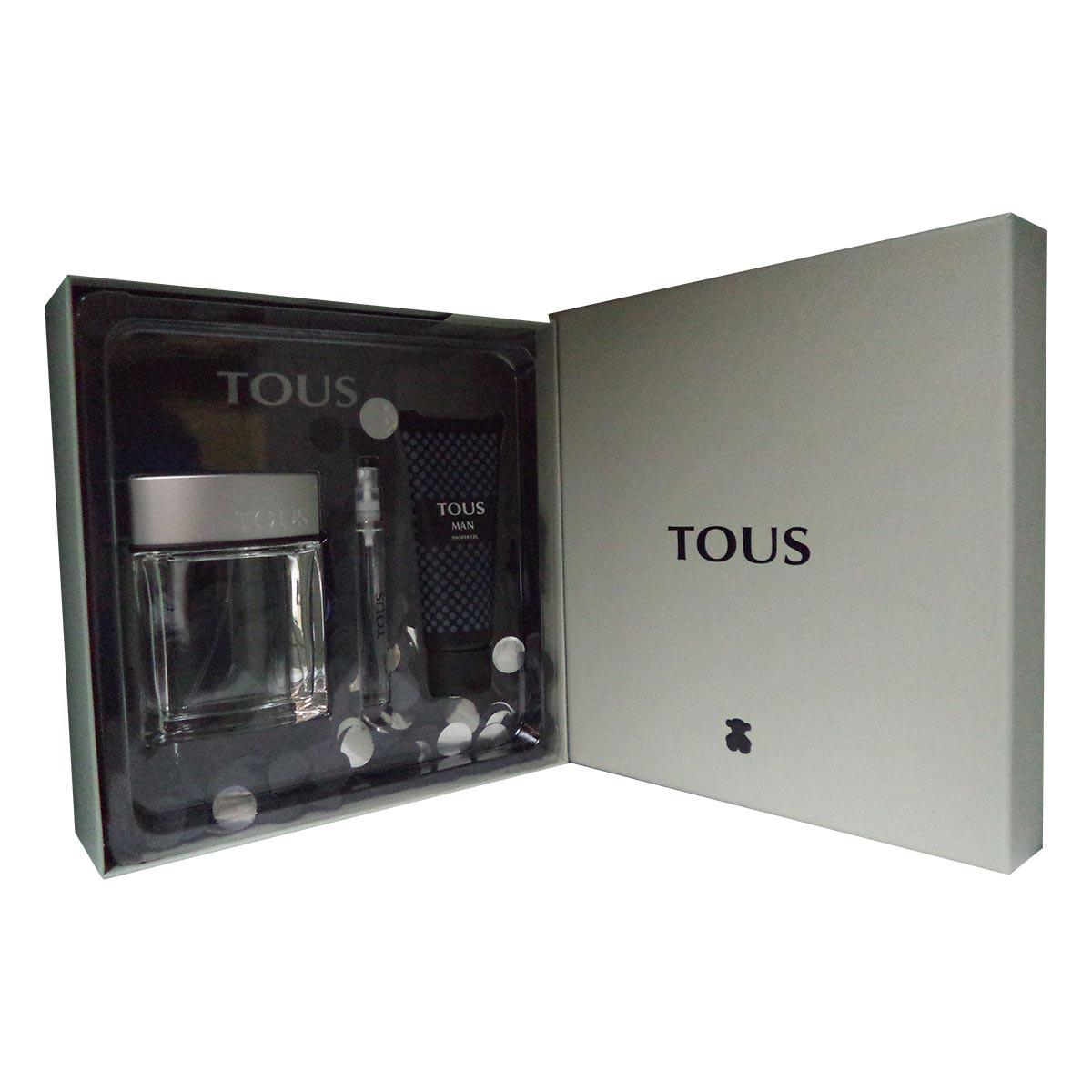 Tous fragrances Man Eau De Toilette 100ml Shower Gel 100ml Miniature