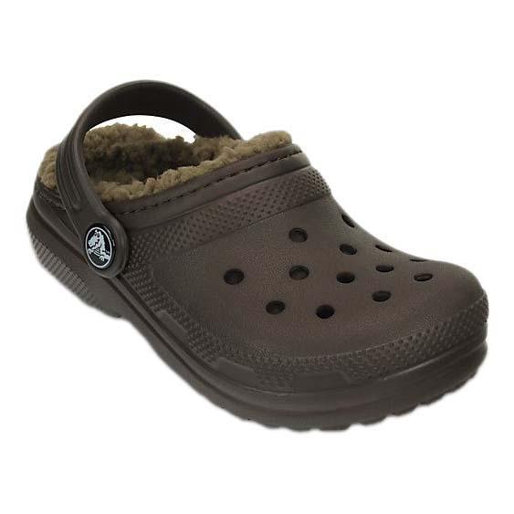 27a29f42b783f Crocs Classic Lined Clog K Brown buy and offers on Dressinn