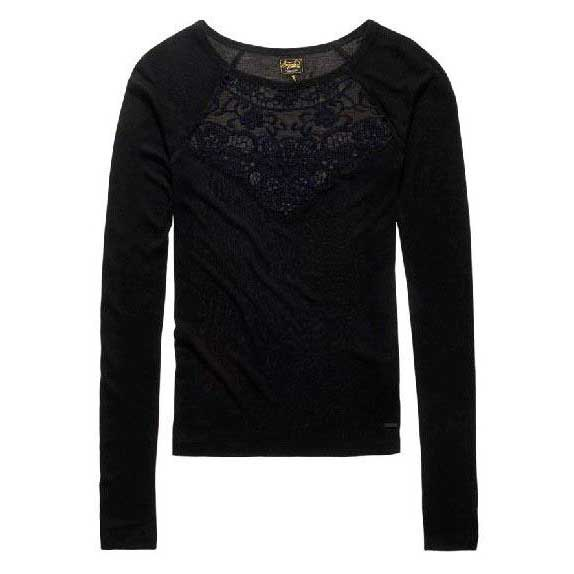 Superdry Anastasiya Rib Lace Top