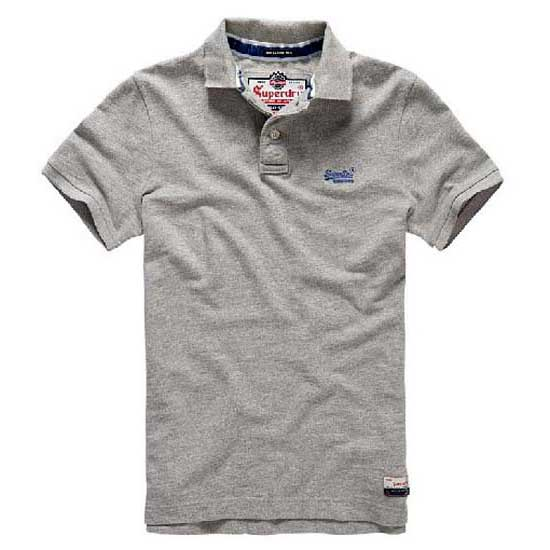 Superdry Classic Pique Ss Polo Γκρι f141470f553