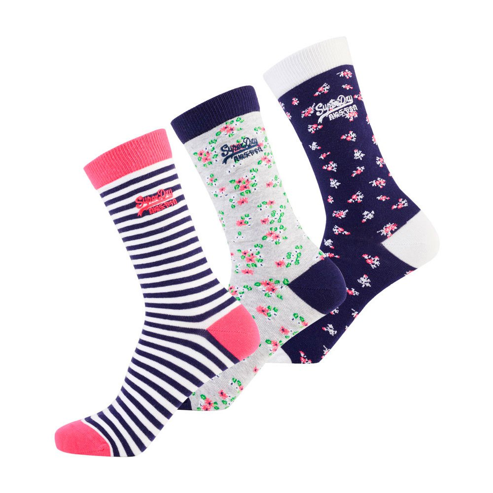 Superdry Ditsy Sock Triple Pack