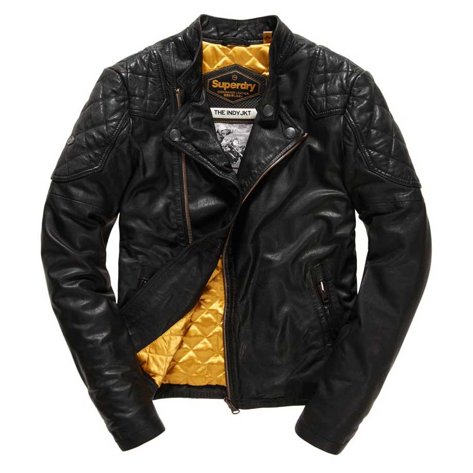 Super dry leather jacket