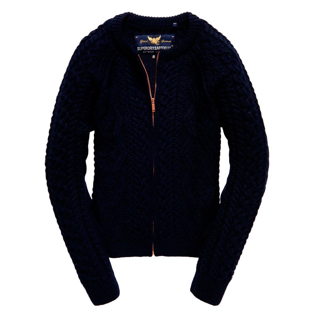 Superdry Evie Cable Bomber Jacket Knit
