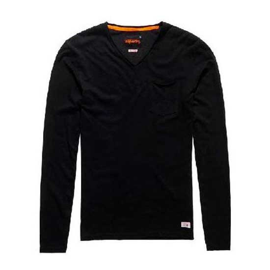 Superdry Lite Loomed Pocket Ls Vee Tee